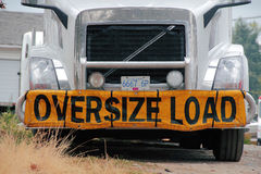 Oversize Load Stock Image