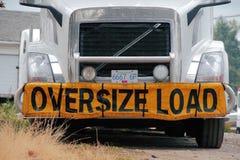 Oversize Load Stock Image