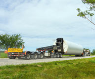 An oversize load on a small country highway stock photo