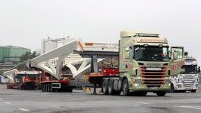 Oversize Load Transport at Destination Stock Photos