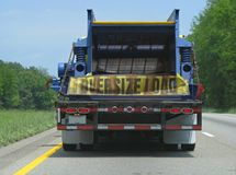 Oversize load on a truck Stock Photo