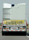 Oversize load on a truck Royalty Free Stock Images