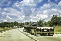 Oversize truck Royalty Free Stock Images
