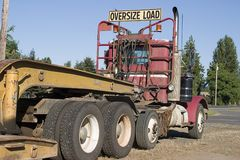 Oversized Load Royalty Free Stock Photo