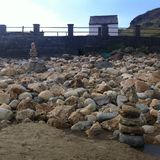 Oversized pebbles. Muckross beach, Kilcar, Co Donegal Stock Photography