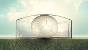Oversized soccer ball Stock Photos