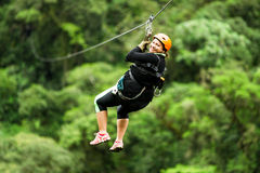 Free Oversized Woman On Zip Line Close Up Stock Photo - 61155390