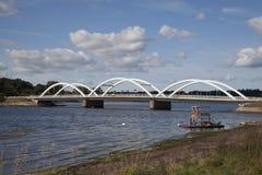 Overspannen brug op het eiland van sealand Stock Foto's