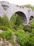 Overspannen brug in platteland Stock Afbeeldingen