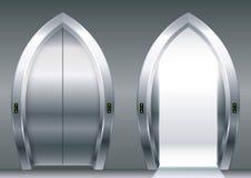 Overspannen deuren van de lift royalty-vrije illustratie