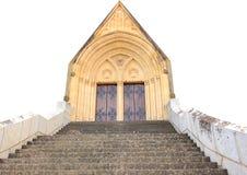 Overspannen geïsoleerde kerkdeuropening Royalty-vrije Stock Afbeelding