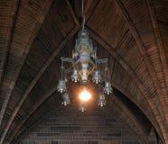 Overspannen plafond binnen kathedraal Stock Foto