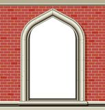 Overspannen venster, bakstenen Royalty-vrije Stock Fotografie