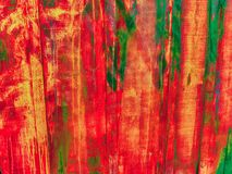 Overspray paint washout on a wall royalty free stock photo