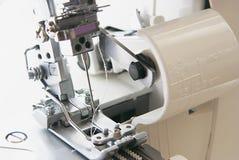 Overstitching machine. Closeup view shot royalty free stock photo