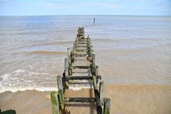 Overstrand - brise-lames Photos stock