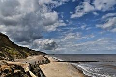 Overstrand - linea costiera Fotografia Stock Libera da Diritti