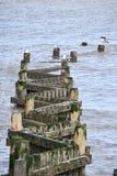 Overstrand - quebra-mar Fotografia de Stock Royalty Free