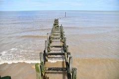 Overstrand - quebra-mar Fotos de Stock