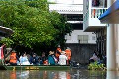 Overstromend in Nakhin Ratchasima, Thailand Royalty-vrije Stock Fotografie