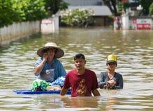 Overstromend in Nakhon Ratchasima, Thailand. royalty-vrije stock foto's