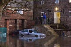 Overstromend - Yorkshire - Engeland Stock Foto