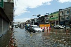 Overstromende crisis in Thailand Stock Afbeelding