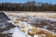 Overstromende Dam Royalty-vrije Stock Fotografie
