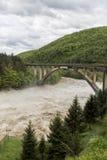 Overstromende rivier Stock Foto's
