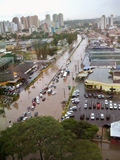 Overstromende Straten Stock Foto's