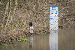 Overstroming Stock Foto