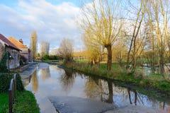 Overstroming in Vlaanderen stock foto's