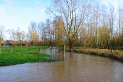 Overstroming in Vlaanderen royalty-vrije stock afbeelding