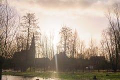 Overstroming in Vlaanderen royalty-vrije stock fotografie