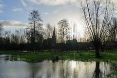 Overstroming in Vlaanderen stock afbeelding