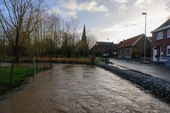 Overstroming in Vlaanderen royalty-vrije stock afbeeldingen