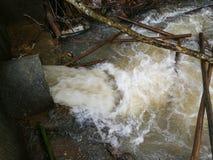 Overstromingswater Stock Afbeeldingen