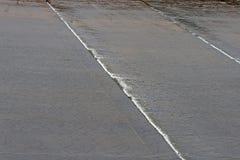 OVERSTROMINGSwater die TIERED HELLING REDUCEREN Stock Afbeelding
