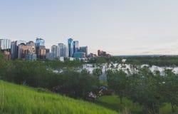 Overstroomd Calgary Royalty-vrije Stock Foto