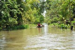 Overstroomd Dorp stock afbeelding