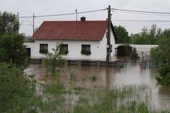 Overstroomd huis Royalty-vrije Stock Foto's