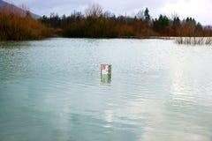 Overstroomd landschap Royalty-vrije Stock Afbeelding