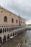 Overstroomd St Tekensvierkant in Venetië, Italië stock foto's