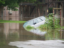 Overstroomde Auto Royalty-vrije Stock Afbeelding