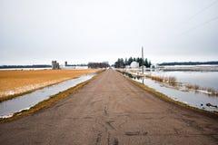 Overstroomde Gebieden Stock Foto