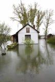 Overstroomde huizen Stock Afbeelding