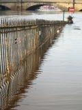 Overstroomde rivier, York, Engeland. Royalty-vrije Stock Afbeeldingen