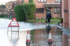 Overstroomde straat Royalty-vrije Stock Foto
