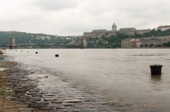 Overstroomde Tie-Downs, Boedapest Stock Afbeelding