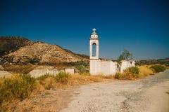 Overstroomde verlaten kerk van st Nicolas bij Alassa-gebied royalty-vrije stock afbeeldingen